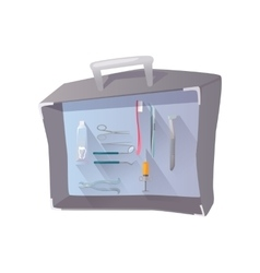 Tools and Items on Theme of Stomatology vector