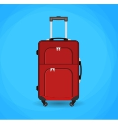 Travel bag isolated on background vector image
