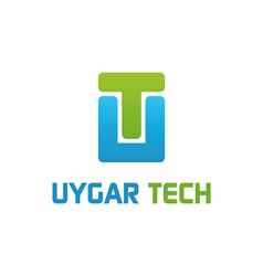 Uygar tech logo work vector