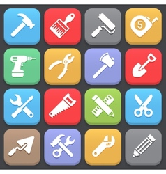 Working tool icons for web or mobile vector image