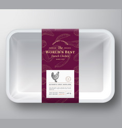 Worlds best poultry abstract plastic tray vector
