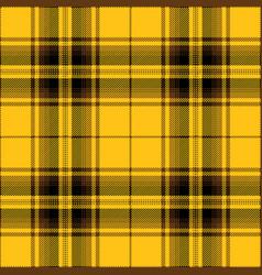 yellow black and brown tartan plaid pattern vector image