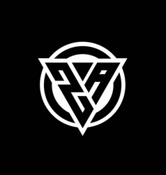 za logo with negative space triangle shape vector image