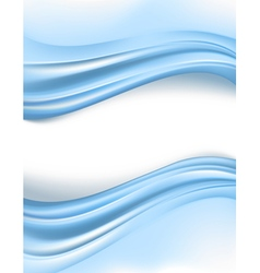 blue silky waves borders vector image vector image