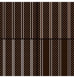Brown polka dot vector image