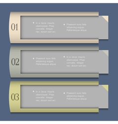 Design template for infographics vector image vector image