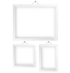 Frame white vector image