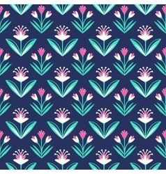 Seamless pattern with decorative floral ornament vector image vector image
