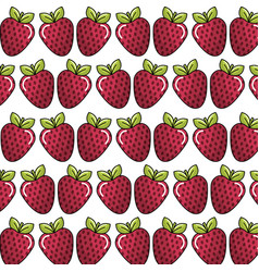 strawberry background icon stock vector image vector image
