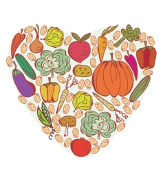 vegetable heart vector image