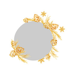 hand drawn christmas frame from a christmas tree vector image