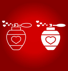 love perfume with hearts line and glyph icon vector image vector image