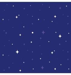 Night sky seamless cartoon pattern vector image vector image