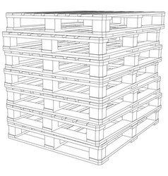 stack of pallets vector image vector image