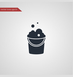 bucket icon simple vector image