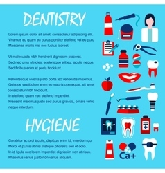Dentistry and dentist office design template vector image vector image