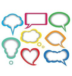 dialogue bubbles vector image vector image