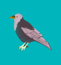 flat shading style icon raven vector image vector image