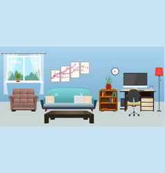 living room interior with furniture vector image