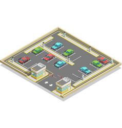 Parking zone isometric location vector