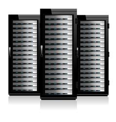 Servers Black vector image vector image
