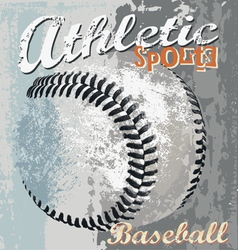 Baseball athletic sport vector image vector image