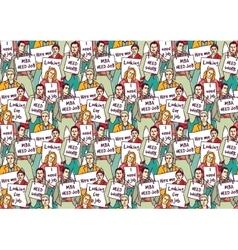 Big group unemployment business people color vector image