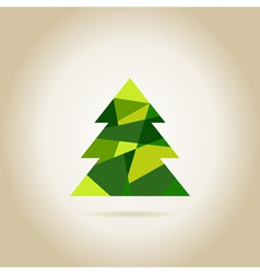 Christmas tree6 vector image vector image
