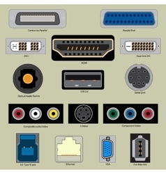 Computer Port vector image
