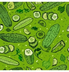 Cucumber Pattern Image vector image