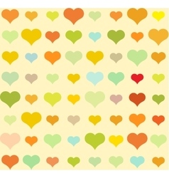 Heart pattern seamless background vector image vector image