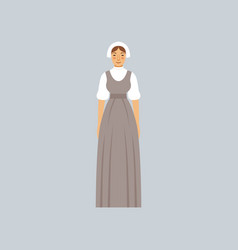mormon woman in traditional dress vector image vector image