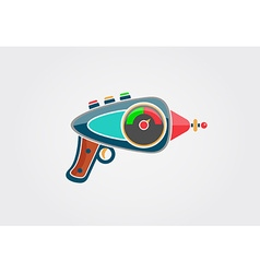 Ray gun cartoon Supergun vector image