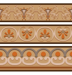 Set of ancient Roman ornaments border patterns vector image vector image
