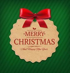 Vintage Gift Label vector image