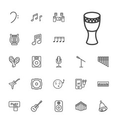 22 music icons vector