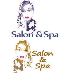A simple salon and spa logo vector