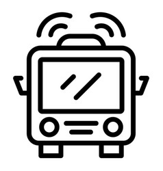 Accessible train icon outline style vector
