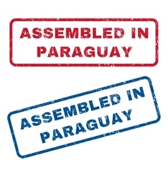 Assembled In Paraguay Rubber Stamps vector