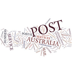 Australia post text background word cloud concept vector