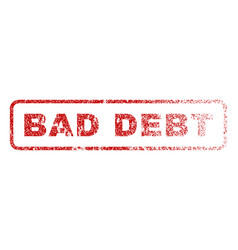 bad debt rubber stamp vector image