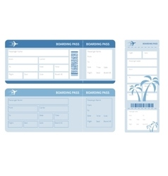 blue ticket vector image