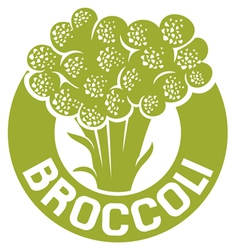 Broccoli symbol vector