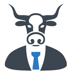 bull boss flat icon vector image