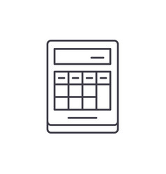 calculation on the calculator line icon concept vector image