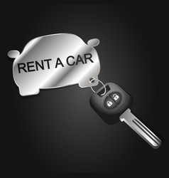 Car rental symbol for business vector