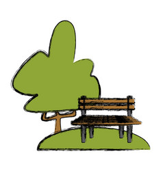 chair in the park vector image
