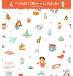 Christmas holidays seamless pattern vector