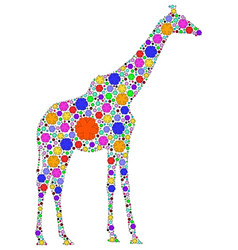 Color giraffe vector