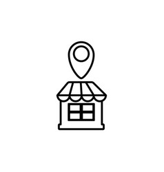 commerce shopping line image icon vector image